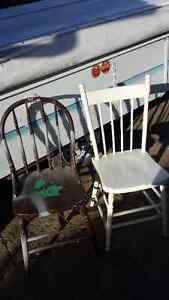 Antique wooden chairs x2 Great Cond. Strathcona County Edmonton Area image 1