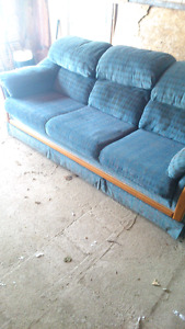 Couch with extra cushions and legs. 100$