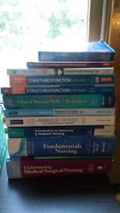NSCC Practical Nursing text books and scrubs