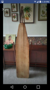Wooden vintage ironing board