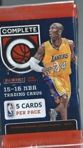 15-16 Panini Complete Basketball 8 Retail Pack Lot