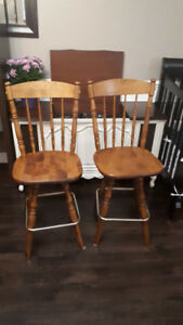 Solid Wood Bar Stools