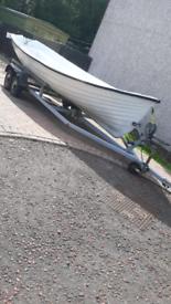 19ft sullivan fishing boat. £1475 ono