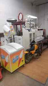 Wharehouse sale! Display fridge. Ice cream maker. Furniture!