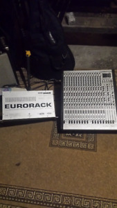Behringer Eurorack MX 3242x mixer w/ power suply