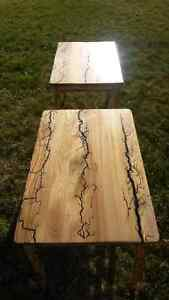 Two seared wooden end tables Prince George British Columbia image 3