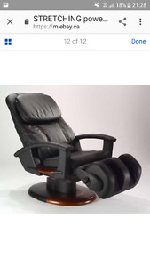2 YEARS WARRANTY  HUMAN TOUCH MASSAGE CHAIR WITH REMOTE CONTROL