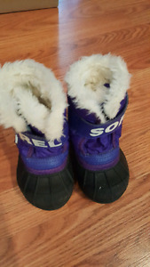 Size 4 purple Sorel Winter Boots