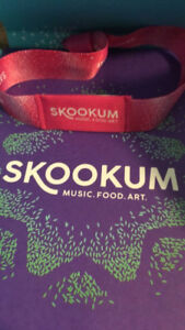 SKOOKUM Saturday 8th ticket $200 or best offer