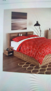 Double bed storage frame/headboard