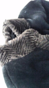 Used Wool coat size Large with fur collar and cuffs. St. John's Newfoundland image 2