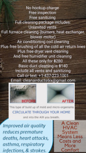 Air duct and furnace cleaning Toronto