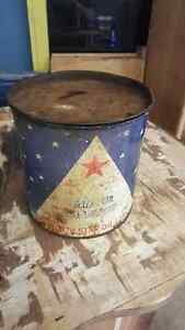 Antique/ vintage North Star 5lb grease tin