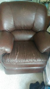 Leather Lazboy recliner