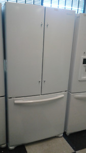 "Beautiful Samsung 32"" French Door White Refrigerator & Bottom Fr"