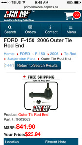 Outter tie rod end