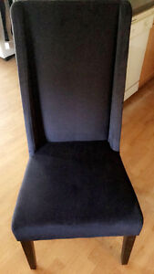 2 velour dining chairs Windsor Region Ontario image 1
