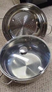 Wolfgang 3 Piece Stainless Steel 13 inch Deep Chef Pot