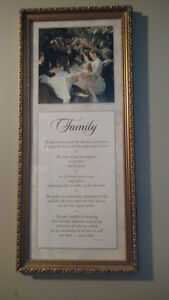 picture family poem wall hanging