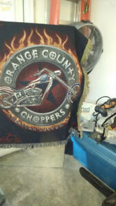 Orange County Choppers couch throw/wall picture