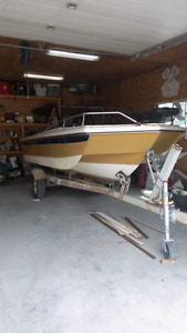 1976 lund tri haul 85hp Mercury