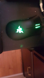 Razer DeathAdder mouse, 2 months old, new condition.
