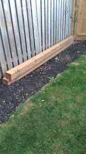6x6 brown treated posts