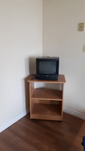 moving shelf/lamp stand /side table  /tv stand including tv
