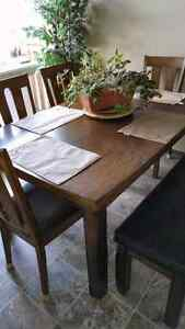 Solid wood table & chairs