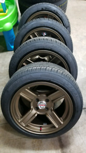 15inch 4x100 RIMS NEW + 195/60R15 TIRES NEW $600!!