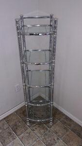Glass and Chrome shelf