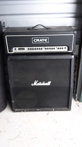 "Marshall 4x12"" cabinet with crate head"