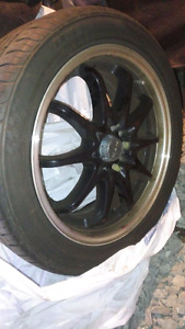 17 inch summer  aftermarket tires and rims for sale