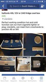 240v / 12v Halfords fridge/ cool box