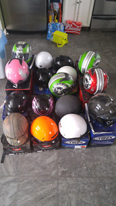 Helmets full face n open trades welcome