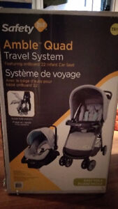 Safety 1st Amble Quad Travel System stroller car seat and base