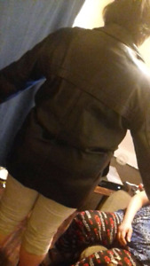 Black leather Colombia jacket for sale