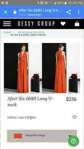 After six bridesmaid dress- Tangerine tango