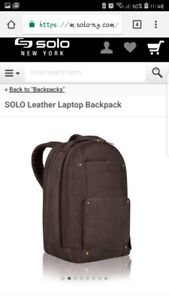 Solo NY personalised Star wars crew 2018 leather laptop backpack