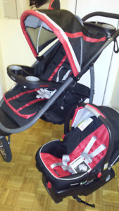 Graco fast-action jogger travel system.