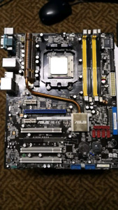 Asus M2N-E AM2 motherboard + Athlon x2 46 00+ + stock AMD heatsi