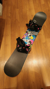 Ladies Atomic Snowboard, Boots, and Bindings