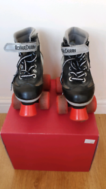 Roller Derby Firestar roller skates junior size 1 Black Quad skates R