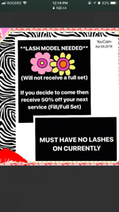 Models needed for eyelash extensions located in Newmarket