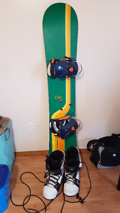Dart 150 Snowboard with bindings and Celcius boots