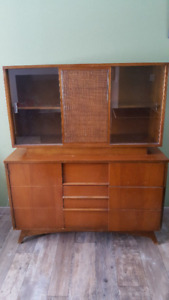 1960's Retro China Cabinet with Hutch