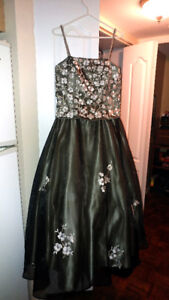 Robe de bal XL champagne et bronze, prom dress XL aspeed