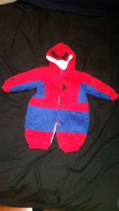 Spiderman fall/winter suit 3-6 months