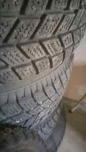 185/60R15 Hankook I-pike winter tires with rims*GOOD CONDITION*