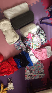 Never used cloth diapers